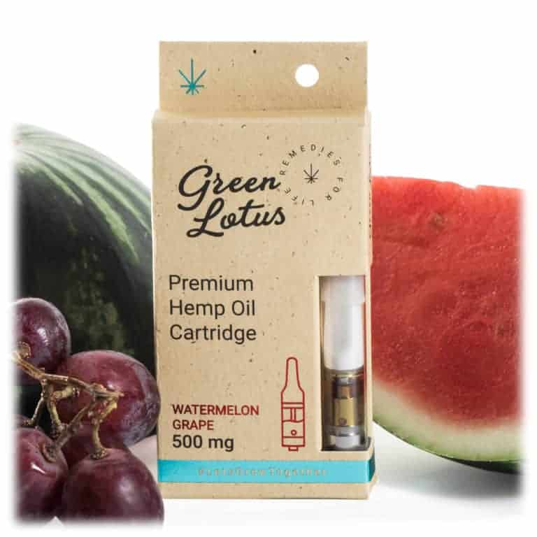 Green Lotus Hemp Vape Cartridge Watermelon Grape CBD
