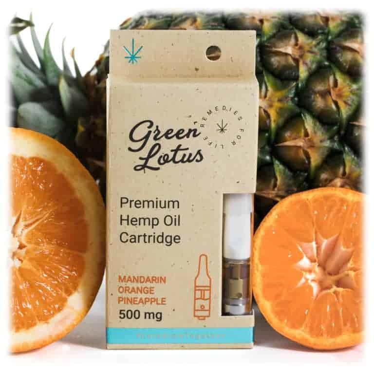 Green Lotus Hemp Vape Cartridge Mandarin Orange Pineapple CBD