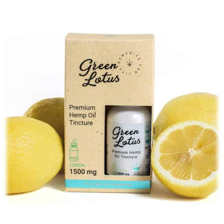 Green Lotus Hemp Tincture lemon 1500mg CBD