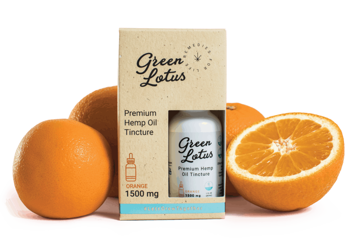 Green Lotus Hemp Product Tincture Orange Fruit