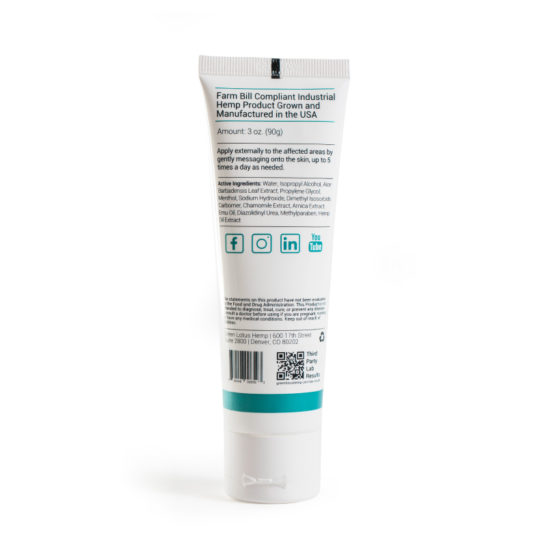 CBD Cream Topical Lotion freeze