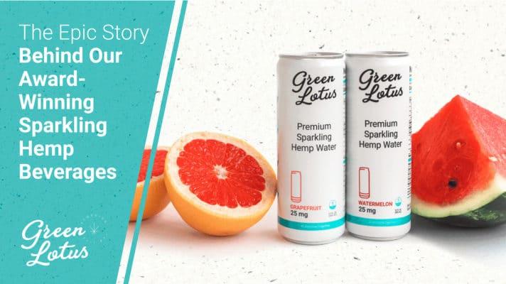 Green Lotus Hemp Blog Sparkling Beverage CBD Fruit Drink