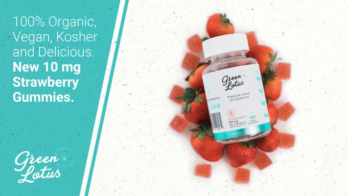 Green Lotus Hemp CBD-infusedOrganic Strawberry Gummy 10 mg