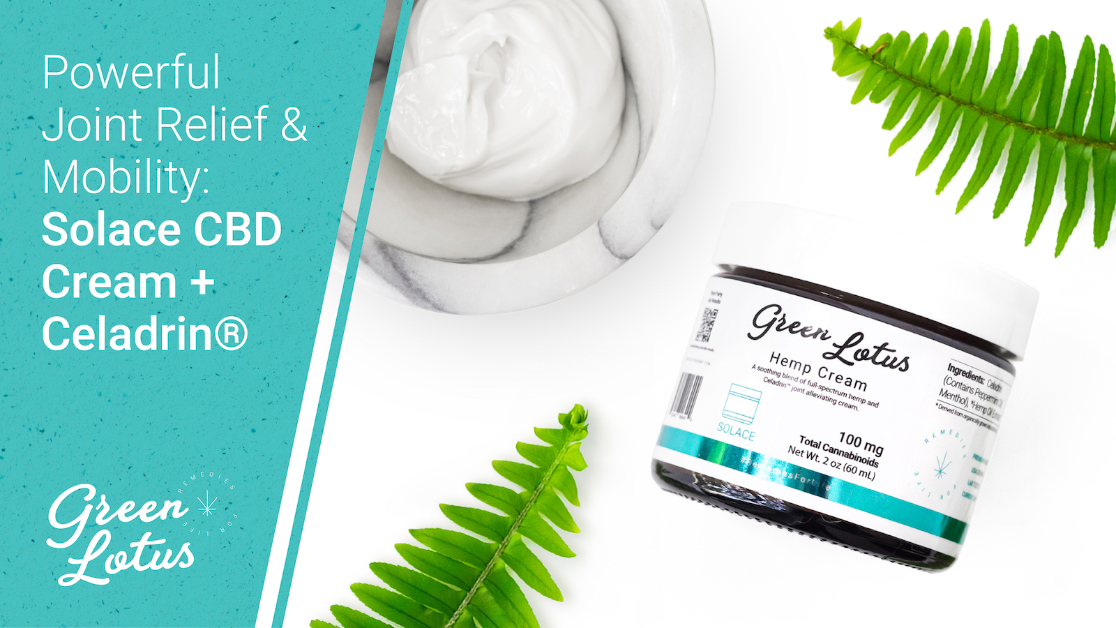 Powerful Joint Relief & Mobility: Solace CBD Cream + Celadrin®