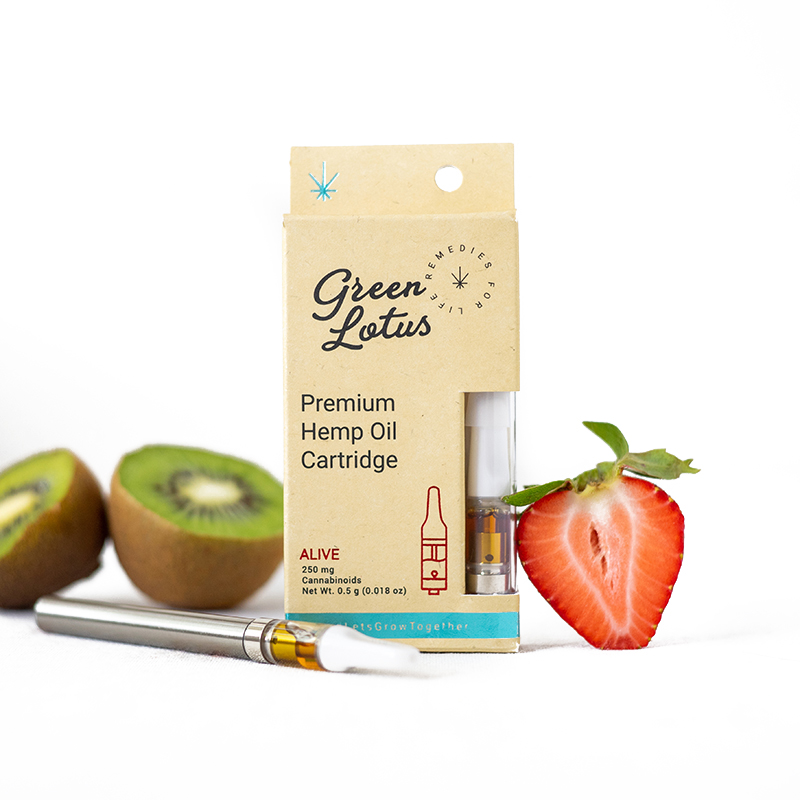 cbd oil vape cartridge - green lotus alive