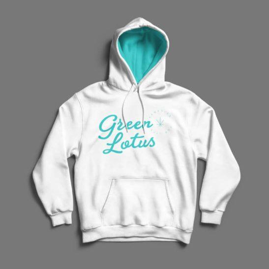 Green Lotus Logo Hoodie
