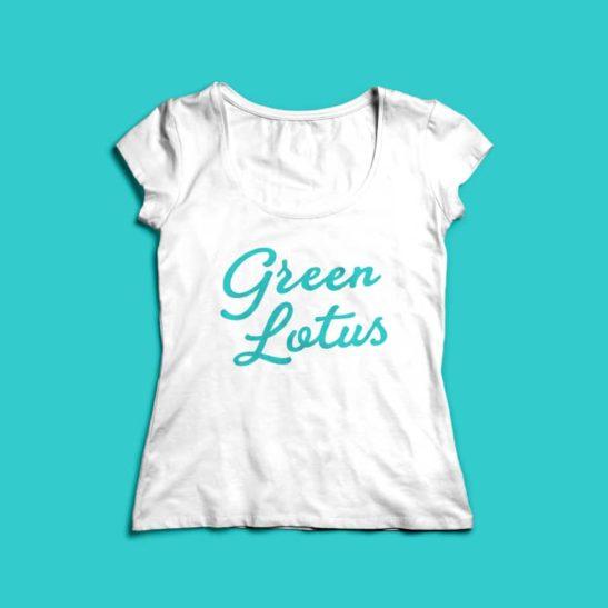 Green Lotus Logo Womens T-Shirt